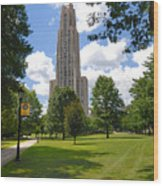 Cathedral Of Learning University Of Pittsburgh Wood Print