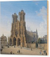 Cathedral Of Notre-dame At Reims Wood Print