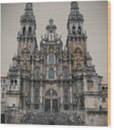 Cathedral Of Santiago De Compostela Wood Print by Jasna Buncic