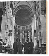 Cathedral Of St. John In Nyc Wood Print