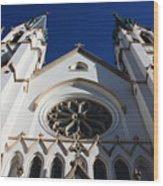 Cathedral Of St John The Babtist In Savannah Wood Print