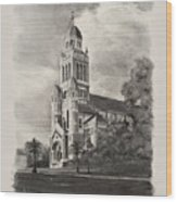 Cathedral Of St John The Evangelist Wood Print by Ron Landry