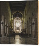 Cathedral Of Syracuse - Duomo Di Siracusa - An Ancient 2500 Years Old Greek Temple Wood Print