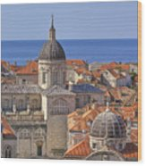 Cathedral Of The Assumption Of The Virgin In Dubrovnik Wood Print