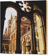 Cathedral Of Trier Window Wood Print