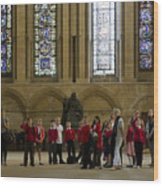 Cathedral People Wood Print
