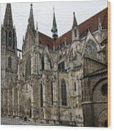 Cathedral Regensburg Wood Print