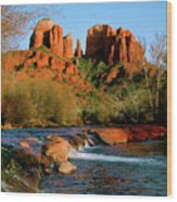Cathedral Rock At Redrock Crossing Wood Print