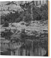 Cathedral Rock Black And White Number Seven Wood Print