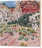 Cathedral Rock Wood Print by Donald Maier