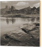 Cathedral Rock Flow Wood Print
