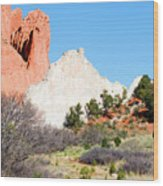 Cathedral Rock In Garden Of The Gods Park Wood Print