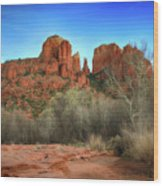 Cathedral Rock In Sedona Wood Print