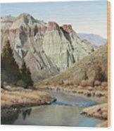 Cathedral Rock John Day River Wood Print