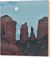 Cathedral Rock Moon 081913 E2 Wood Print