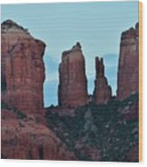Cathedral Rock Moon 081913 H Wood Print