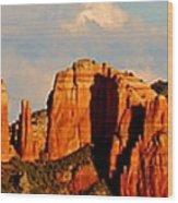 Cathedral Rock Panorama Wood Print