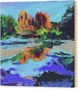 Cathedral Rock - Sedona Wood Print