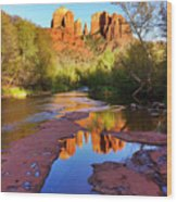 Cathedral Rock Sedona Wood Print by Matt Suess