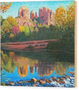 Cathedral Rock - Sedona Wood Print by Steve Simon