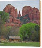 Cathedral Rock V Wood Print