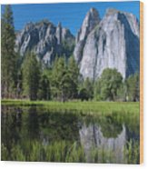Cathedral Rocks - Yosemite Wood Print