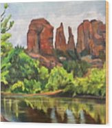 Cathedral Rocks In Crescent Moon Park Wood Print