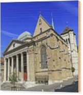 Cathedral Saint-pierre In The Old City, Geneva, Switzerland Wood Print