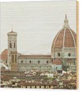 Cathedral Santa Maria Del Fiore At Sunset, Florence. Wood Print