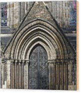 Cathedral Side Door Wood Print