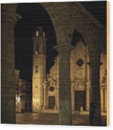 Cathedral Square Havana Cuba Wood Print