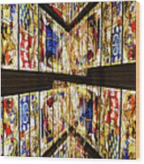 Cathedral Window Montage Wood Print