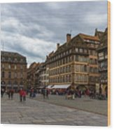 Cathedrale Notre-dame Or Our Lady Place, Strasbourg, France Wood Print