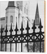 Catheral Basilica - Bw Wood Print