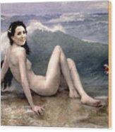 Catherine Duchess Of Cambridge Nude  Wood Print by Karine Percheron-Daniels