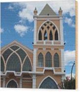 Catholic Church In Ibarra Wood Print