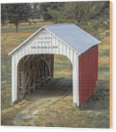 Catlin Covered Bridge  Wood Print