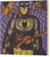Catman Wood Print