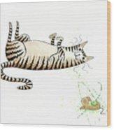 Catnipped  Wood Print