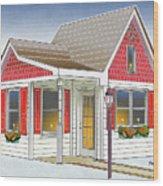 Catonsville Santa House Wood Print