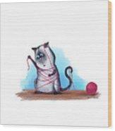 Cat's Cradle, Kitty Style Wood Print