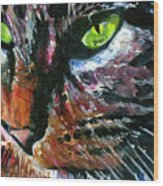 Cats Eyes 11 Wood Print