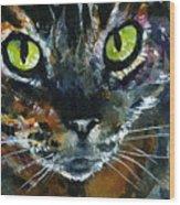 Cats Eyes 16 Wood Print