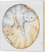 Cat's Harmony Wood Print