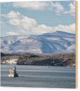 Catskill Mountains With Lighthouse Wood Print