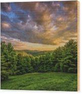 Catskill Sunset Wood Print