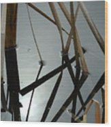 Cattail Jazz V Wood Print