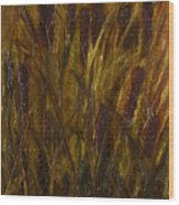 Cattails 1 Wood Print