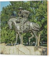 Cattle Drive Sculpture, Pioneer Plaza, Dallas, Tx. Wood Print