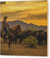 Cattle Drive 41 Wood Print
